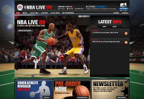 EA Sports : NBA Live 09 : Home Page