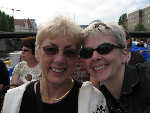 Mom and me on the river Spree