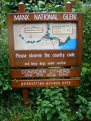 Groudle Glen sign and map