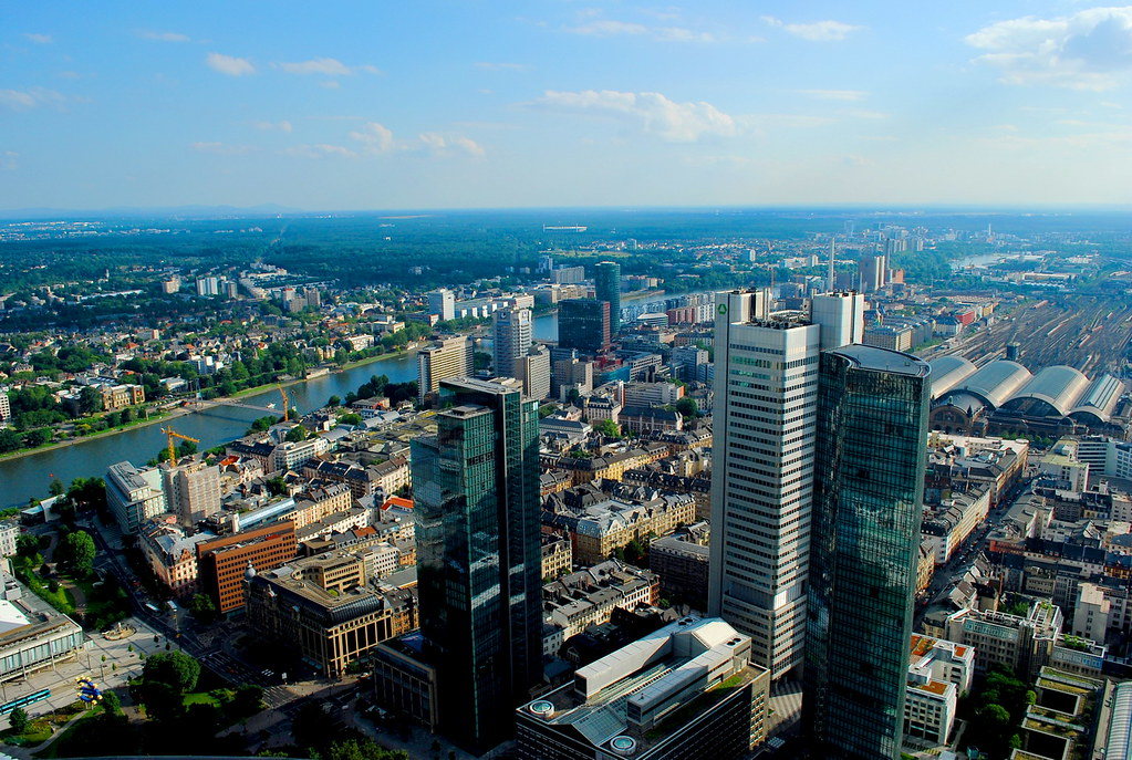 helaba tower at frankfurt city
