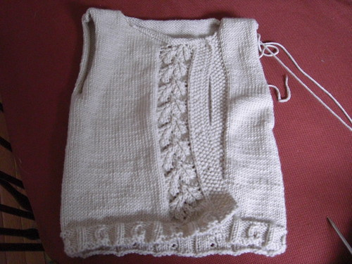 A peapod vest - waiting for sleeves
