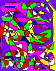 Harlequin Holiday (traqair57) Tags: light party holiday abstract art colors tile happy rainbow spectrum jester vibrant clown happiness kaleidoscope celebration microsoft joker mspaint crayon encaustic harlequin