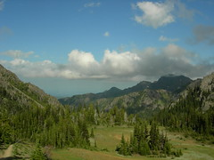 View looking east from Marmot Pass