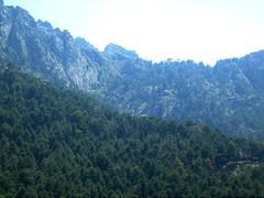 Bocca di Cuccavera et le versant de descente vers Puscaghja en été