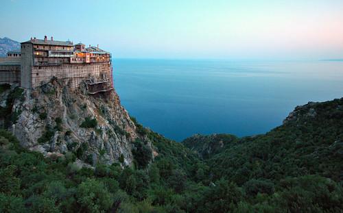 Mt. Athos, Greece - Holy Monastery of Simonos Petra (Simonopetra)