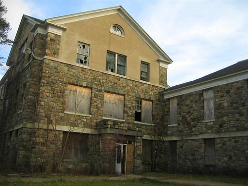 Old hospital building side entrance