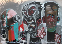 facesofdeath (RABBIT EYE MOVEMENT) Tags: streetart graffiti poland meeting pixel styles pancho 2008 wroclaw nychos aryz