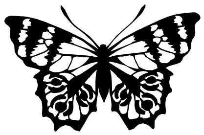 how to cut butterfly design