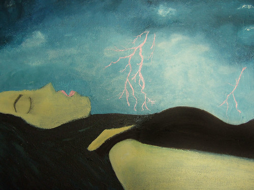 New painting:  Restless Slumber