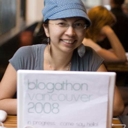 Karen during Blogathon Vancouver 2008