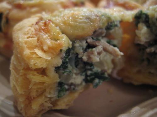 spinach, onion, mushroom frittata-itas