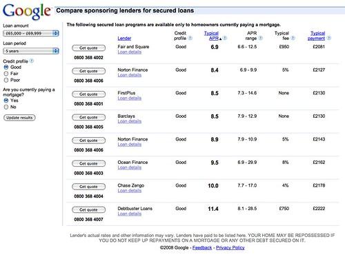 Google Merchant Search Loans UK