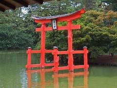 pagoda on pond