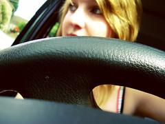 day 2/365 (emma-barrott.com) Tags: day2 selfportrait colour girl car driving august monday steeringwheel 365days emmasphotography