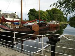 from oakfield bridge (werewegian) Tags: bridge reflection water boats scotland canal argyll swing crinan oakfield lochgilphead aug08 werewegian