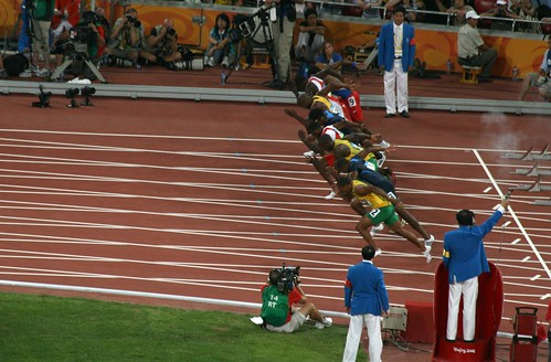 Mens 100m Final - Start (by niklausberger)