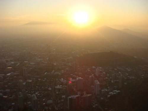 Sunset over Santiago. From Cerro San Cristóbal.