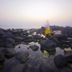 Ghosting Session (Khaled A.K) Tags: longexposure sunset sea photography rocks squares ghost clarity motionblur filter sa jeddah saudiarabia khaled ksa saudia nd8 nd4 kashkari