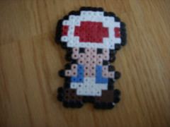 toad (Hammyluver~!) Tags: beads mario toad perler