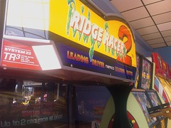 Only found in Blackpool now... Ridge Racer 2 arcade