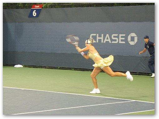 Bethanie Mattek Chasing Ball