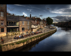 An evening by the river (joyork) Tags: york river pub arms kings ouse hdr kartpostal 1755is
