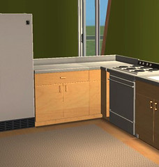 Maple & Steel Counter for The Sims 2
