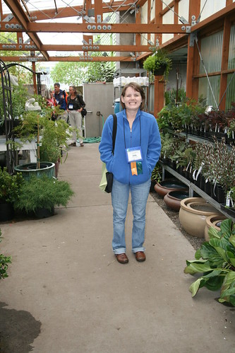 Emily in the plant center