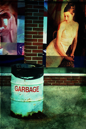 garbage and mural