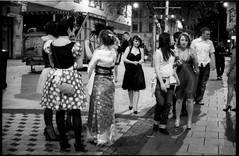 Saturday night fever #18 (giuli@) Tags: uk girls blackandwhite bw film wales analog geotagged 50mm lenstagged cardiff saturdaynight neopan nightlife minnie minniemouse neopan1600 minni fancydress zuiko queenstreet iso1600 olympusom10 galles ragazze fujineopan1600 blackandwhitefilm fujineopan travestimento sabatosera zuiko50mmf18 giuliarossaphoto cardiffcitycentre geo:lat=5148169 noawardsplease group:smellsfunny=no nolargebannersplease geo:lon=3178042