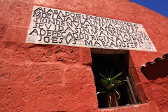 Mysterious text (stanchow) Tags: peru arequipa santacatalina