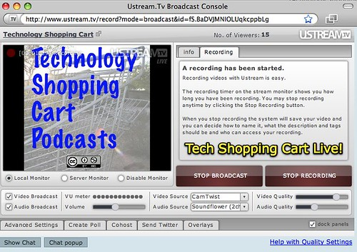 Tech Shopping Cart Live!