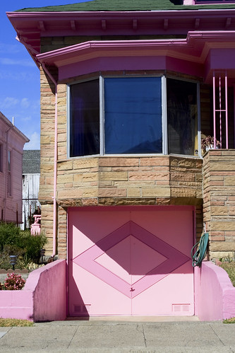pink monstrosity garage