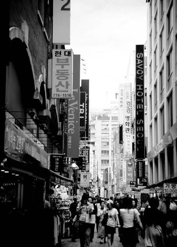Myeong Dong Street.