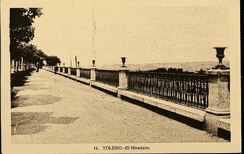 Paseo del Miradero (Toledo). Foto Heliotípica artistica española 1934