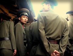 North Korean soldiers. (ShanLuPhoto) Tags: military kimjongil soldiers socialism northkorea pyongyang dprk kimilsong juche 북한 조선민주주의인민공화국 mangyongdae