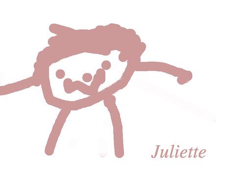 Dessin réalisé en 10 minutes par Juliette, 5 ans