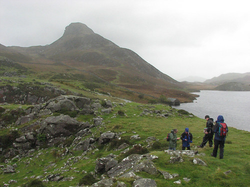 Geology students at Cregennen Lake