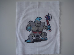 Axe Knight (benjibot) Tags: crossstitch crafts videogames knight nes dragonwarrior