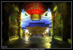 Naritasan Shinshoji Temple / Narita Village Temple @ Blue Hour (DoperDaze) Tags: longexposure blue light japan night temple lights exposure sony hour bluehour alpha nite hdr narita anawesomeshot 350alpha
