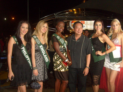 Miss Earth candidates at Clear Black night Party