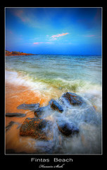 Fintas Beach [HDR] (Hussain Shah.) Tags: sea beach d50 three nikon shots sigma kuwait 1020mm hdr shah hussain fintas photomatix