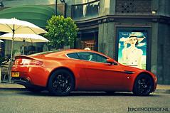 Aston Martin V8 Vantage (Jeroenolthof.nl) Tags: orange color london car ed jeroen nikon cross martin united d70s kingdom processing processed v8 aston vantage dx 1870 amv8 f3545 olthof jeroenolthofnl jeroenolthof