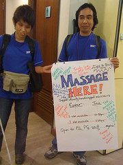 THANK YOU, INSEADers, for helping these visually handicapped masseurs!