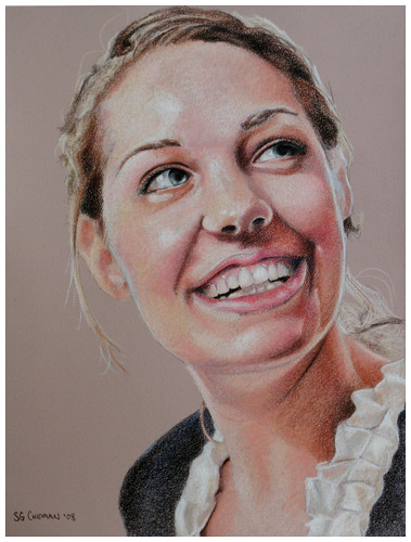 Colored pencil portrait entitled Rachel