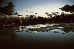Falling from above (Rob Chiu) Tags: sunset holland reflection rooftop water netherlands rain amsterdam nikon d200 nikkor greenpeacehq