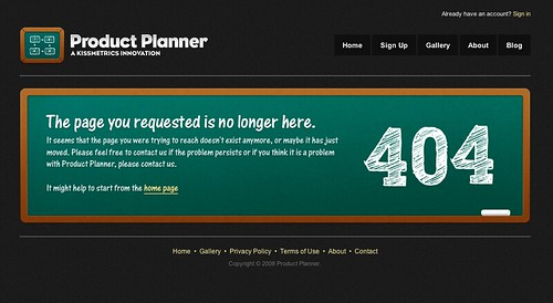 Product Planner 404 by Ian Main.