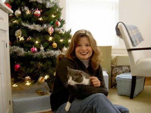 Christmas 2003:  Me & Spud.
