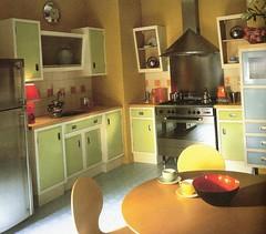 another retro kitchen (lorryx3) Tags: inspiration scan retro retrokitchengreenbluemodern