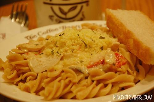 Roast chicken and mushroom Fusilli Pasta @ The Coffee Bean and Tea Leaf